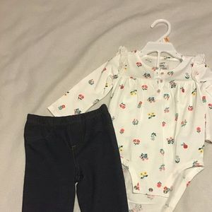 New Carter's 2 piece outfit 12 months NWT